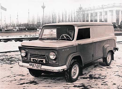 КМЗ Киев - фургон с мотоциклетным двигателем