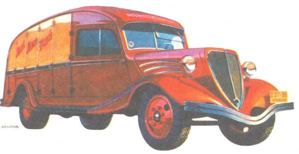 ЗИС МАБ МКИМ - оригинальный продуктовый грузовик