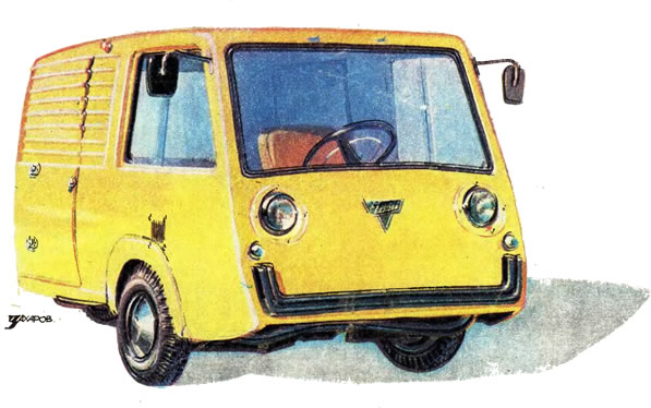 ЧИЖ - трехколесный грузовик