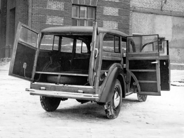МЗМА - 400/421 - универсал с деревянным кузовом