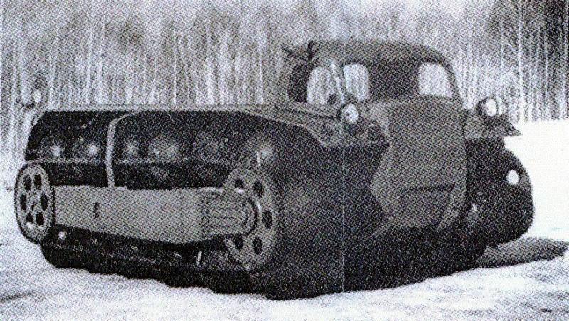 ЗиЛ ПКТс-1/ПКУ-1 - вездеход на пневмокатках.