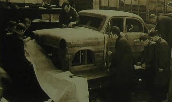 Деревянный макет кузова 402-гоМосквича