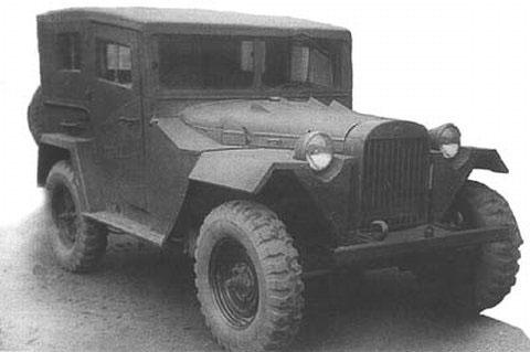 ГАЗ-67 с закрытой кабиной ремзавода №90