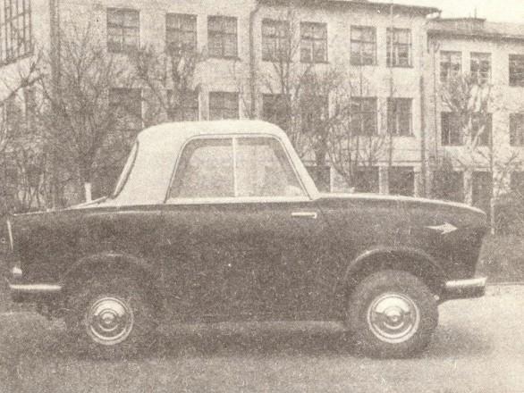 НАМИ-031 - микроавтомобиль со стеклопластиковым кузовом и мотоциклетным мотором