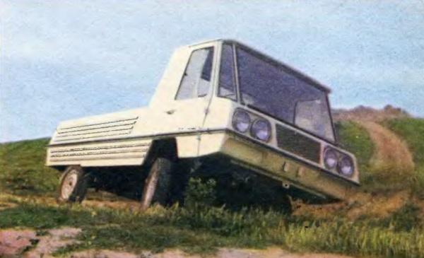 Компактный грузовой автомобиль для горных дорог